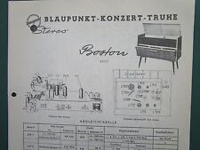 Blaupunkt Konzert-Truhe Boston 4630 Abgleichtabelle und Schaltplan