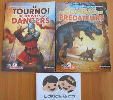 LOT de 2 Livres Nathan Tu es le Héros ! Tome 1 & 2 Dans la peau d'un ...