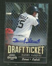 DANRY VASQUEZ 2011 PLAYOFF CONTENDERS DRAFT TICKET AUTO ROOKIE DETROIT TIGERS