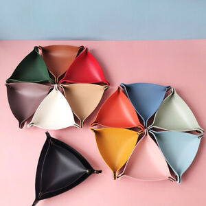 PU Leather Foldable Dice Tray Portable Storage Desktop Jewelry Basket Home Decor