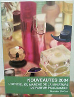 Cotes des Echantillons de Parfum Nouveautes 2004 catalogo fragranze mini profumi