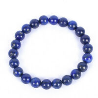 Stress Anxiety Healing Natural Lapis Lazuli Gemstone Handmade Bracelet Beaded