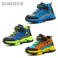 Boys Outdoor Hiking Trail Shoes Waterproof Non-Slip Sports Climbing Sneakers