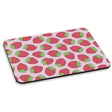 Strawberry Pattern Funny Juicy Fruit Pink PC Computer Mouse Mat Pad