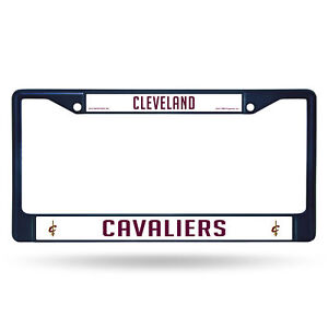 Cleveland Cavaliers NBA Navy Blue Painted Chrome Metal License Plate Frame