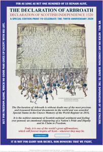 THE DECLARATION OF ARBROATH  700th ANNIVERSARY EDITION FINE ART PRINT