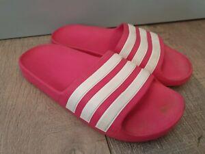 ADIDAS Pink Slider Sandals Size UK3Y