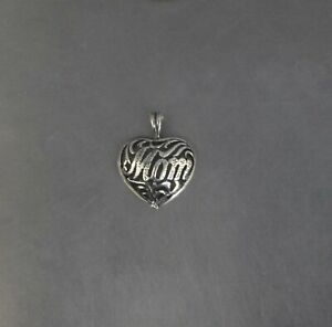 CrazieM Sterling 925 Silver Vintage Southwestern Estate Heart Pendant 1.1g x90