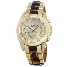 New Women's Burgi BUR094YG Swiss Quartz Multifunction Two-tone Bracelet Watch