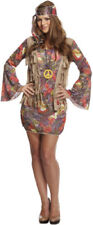 Womens Hippy Hippie Fancy Dress Costume Outfit 60s Ladies Retro ONE SIZE