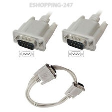 1M DB 9 Pin Male to M D9 Serial RS232 to PC Connector Cable HI QUALITY F033