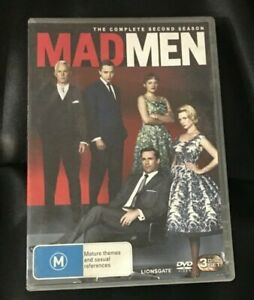 Mad Men : Season 2 (2009 : 3 Disc DVD Set) Very Good Condition Region 4