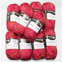 """500g (27€/kg) Schachenmayr """" Catania Flamme´ """" 258 erdbeere 100% Baumwolle Wolle"""