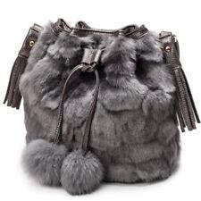 Women Leopard Handbag Faux Fur Shoulder Bag Messenger Phone Purse Tote Shopping