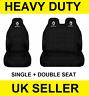 RENAULT TRAFIC Van Seat Covers Protectors 2+1 100% WATERPROOF Black HEAVYDUTY