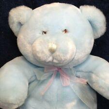 """Animal Alley Baby My First Teddy Bear Plush Blue Toys R US Stuffed Animal 12"""""""