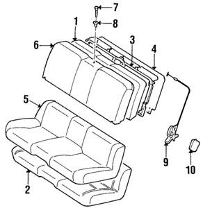 Genuine Toyota Supra Rear Seat Back Fold Release/locking Knob 72658-23010-C0