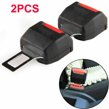 2X Black Car Vehicle Seat Belt Extender Safe Buckle Clip Alram Stopper Unviersal