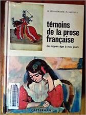 Témoins de la prose française