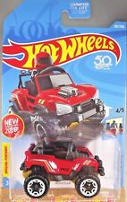 2018 Hot Wheels #282 Red Ride-Ons 4/5 BOGZILLA Red w/White Beadloc Spokes Wheels