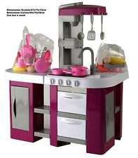vidaXL Cucina Bambini Rosa con Accessori Luci Effetti Sonori Gioco Giocattolo