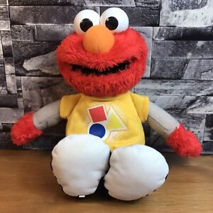 "Sesame Street 13"" Elmo Shapes & Colours Talking and Signing Plush Soft Toy 2010"