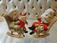 Lefton Christmas Santa and Mrs. Claus Salt and Pepper Shakers