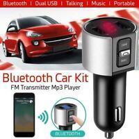 FM-Sender Radio MP3-Player USB-Ladegerät Wireless Bluetooth Car Kit Schwarz M8Z3
