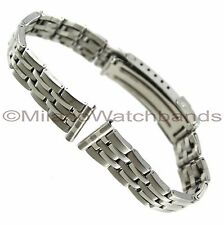 16mm Morellato Matte Shiny Silver Tone Stainless Steel Safety Clasp Watch Band