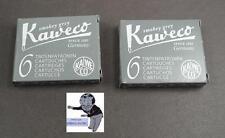 # KAWECO Cartuchos 2 paquetes tinta gris gris ahumado NUEVO #