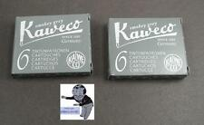# Kaweco Patronen 2 Pakete Tinte grau rauchgrau neu #