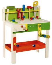 NEW EVEREARTH Childrens Large Wooden Carpenters Work Bench with Play Tools