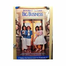 BIG BUSINESS Original Home Video Poster Bette Midler