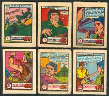 6 Vintage EXOTIC KALIBRE .45 Philippine TEKS / Trading Comic Cards 9