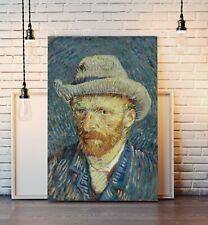 Van Gogh Self Portrait Gray Hat CANVAS WALL ART PAINTING PRINT ARTWORK CLASSIC