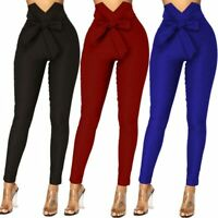 Trousers High Waist Pencil Cargo Women's Ladies New Long Pants Casual Skinny