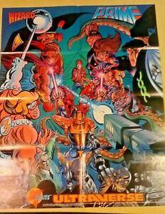 Vintage Malibu Comics Ultraverse Promo Poster Wizard Prime 1994
