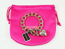 Juicy Couture BANNER PUFF HEART STARTER BRACELET Silver Color