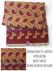 Bold Colourful African Cotton Fabric