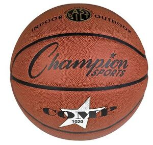 "New Champion Official Size Basketball 29.5-30"" Composite Cover High School, NCAA"