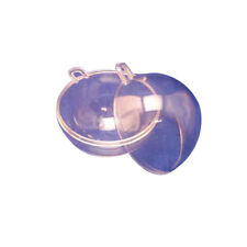 """12 Clear Plastic Ball fillable Ornament favor 4.5"""" 120mm"""