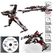 CB Eigenbau Bauanleitung 3x Republic Fighter B-Wing für Star Wars™ LEGO® Steine