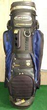 USED OGIO SPORT STINGER SKV Q.C. 2000 CART BAG, BLACK & BLUE COLORS, WITH COVER.