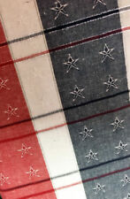 "Patriotic Tablecloth Americana Stars Silver Shimmer 60""x 84 OVAL July 4TH Decor"