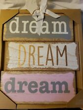 "NIP ""Dream, Dream, Dream"" Nursery Wall Decor Wood"