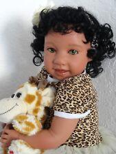 "Reborn 22"" Ethnic/Hispanic/Biracial/African American Toddler Girl doll ""Jackie"""