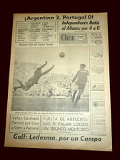 ARGENTINA 2 vs PORTUGAL 0 COPA de las NACIONES BRAZIL 1964 - Clarin newspaper