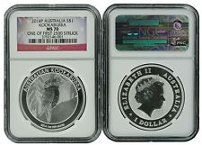 New Listing2014 P Australia Silver Kookaburra Ngc Ms70 One of first 2500 Struck