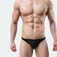 93% Polyester, 7% Spandex Slim Fit Shiny Black Men's Underwear, Size (L)