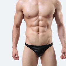 93% Polyester, 7% Spandex Slim Fit Shiny Black Men's Underwear, Size (XXL)
